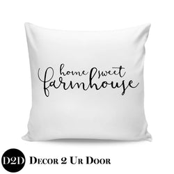 Home Sweet Farmhouse Square Throw Pillow Cover