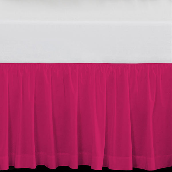 "Solid Hot Pink 15"" Drop Bed Skirt"