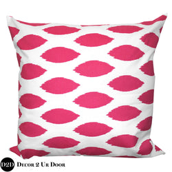 Hot Pink Chipper Euro Pillow Cover