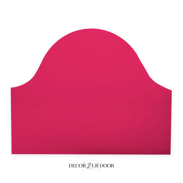 Solid Hot Pink Padded Fabric Headboard