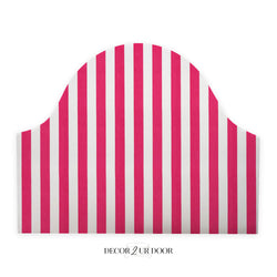 Hot Pink Stripes Padded Fabric Headboard