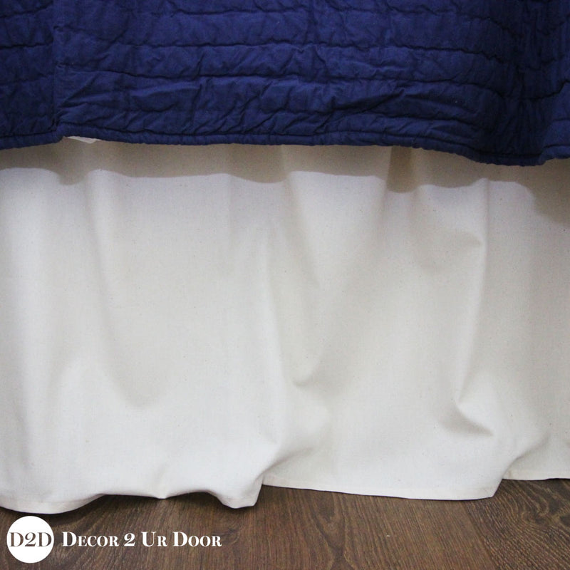 Solid Ivory Extra Long Dorm Bed Skirt