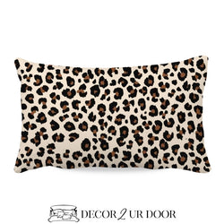 Cheetah Print Lumbar Nursery Throw Pillow Cover