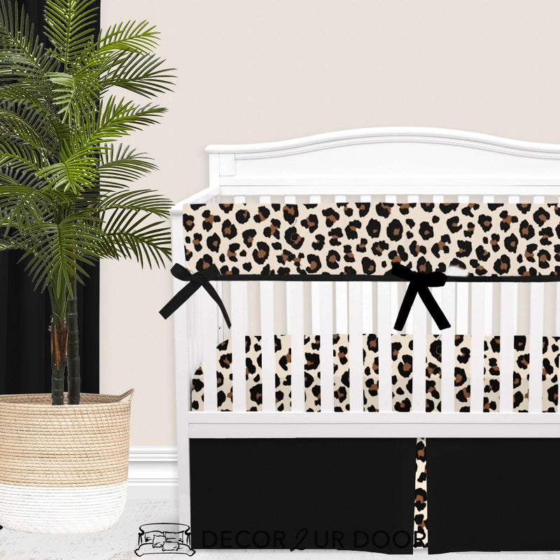 Cheetah Print Baby Girl Crib Bedding Set