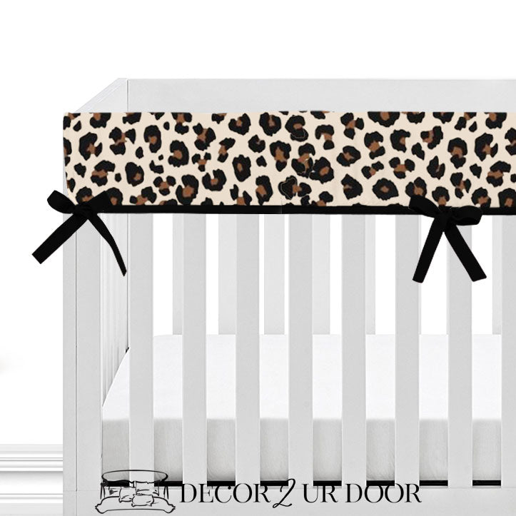 Cheetah Print 2-in-1 Crib Bumper/Rail Cover