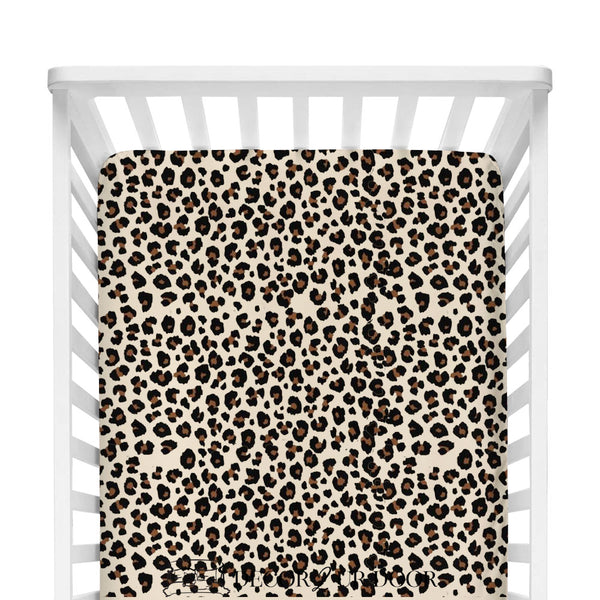 Cheetah Print Fitted Crib Sheet