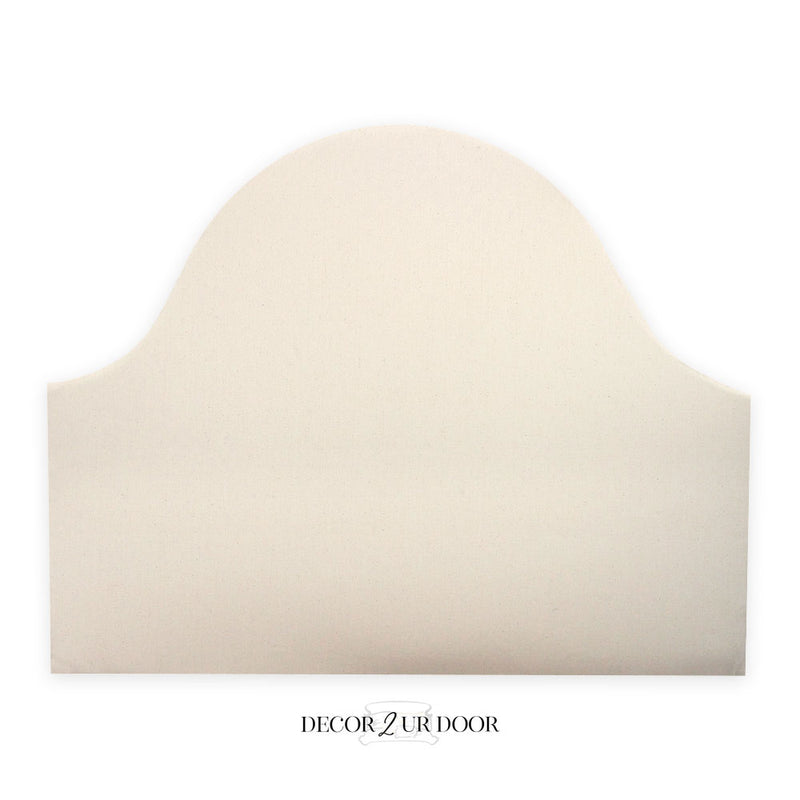 Solid Ivory Padded Fabric Headboard