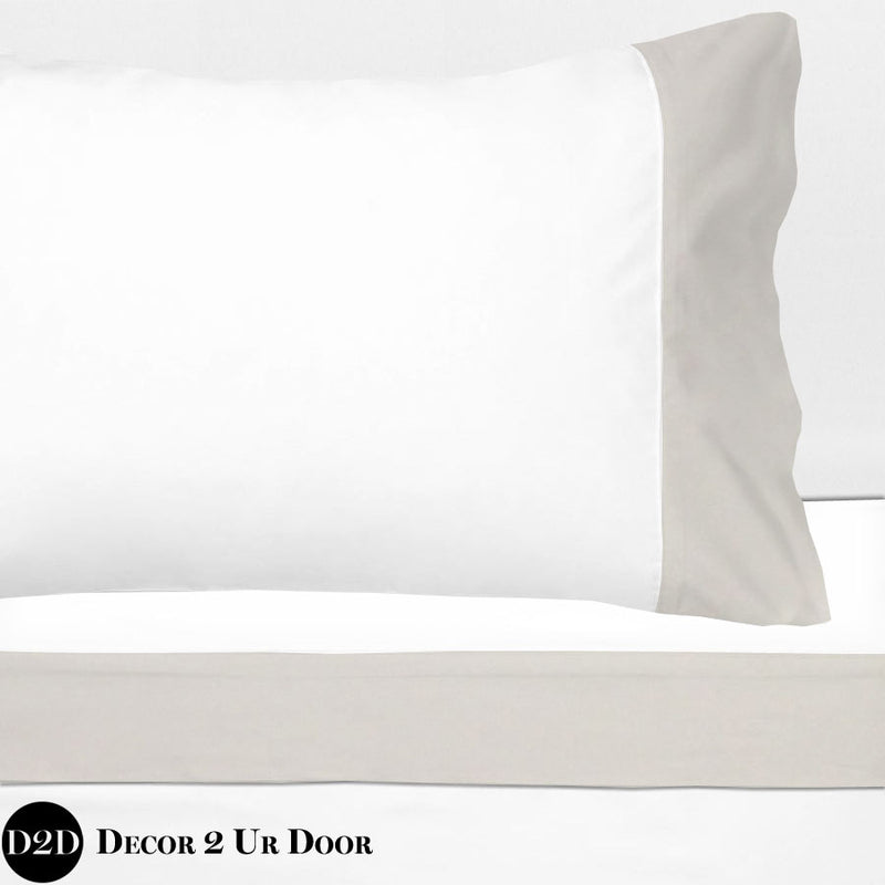 Ivory Linen 100% Cotton Banded Sheet Set