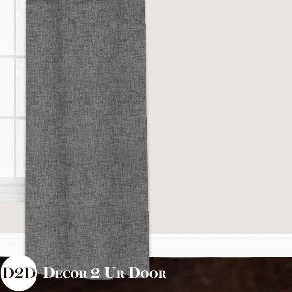 Storm Grey Jackson Custom Window Curtain/Closet Panel