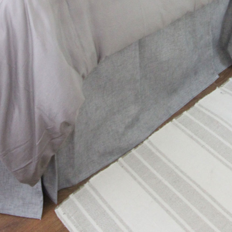 "Storm Grey Jackson 15"" Drop Bed Skirt"