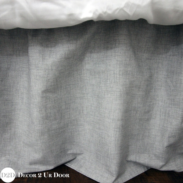 Storm Grey Jackson Extra Long Dorm Bed Skirt