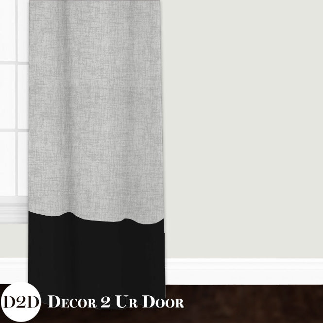 Grey & Black Closet + Window Curtain