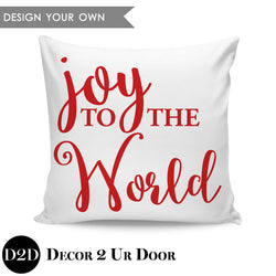 Joy to the World Square Throw Pillow Cover
