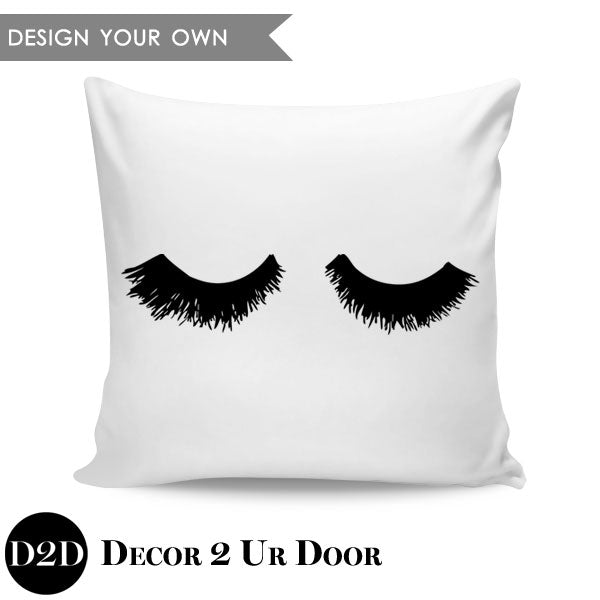 Lashes Square Pillow Cover