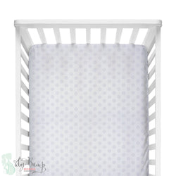 Lavender Chelsea Dots Fitted Crib Sheet