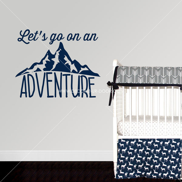 Let's Go On An Adventure Vinyl Wall Decal