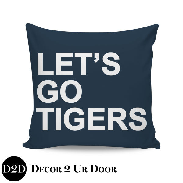Auburn University Let's Go Tigers Square Pillow Cover