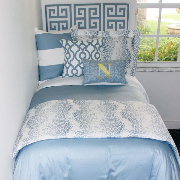 Solid Light Blue Duvet Cover and Sham Set