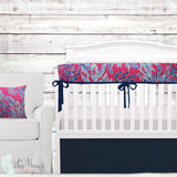 Lilly Pink & Blue Corals Baby Girl Crib Bedding Set