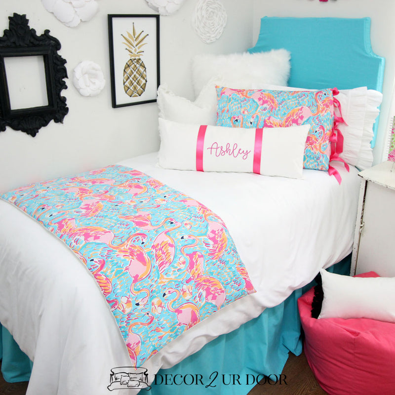 Lilly Flamingo Print Dorm Bedding Set
