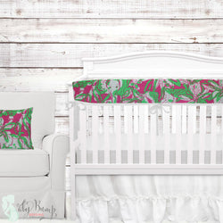 Lilly Pinkgreen Elephant Baby Girl Crib Bedding Set Lilly