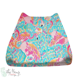 Lilly Flamingo Print Baby Changing Pad Cover