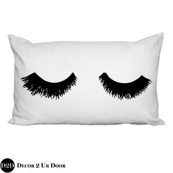 Lashes Lumbar Pillow Cover
