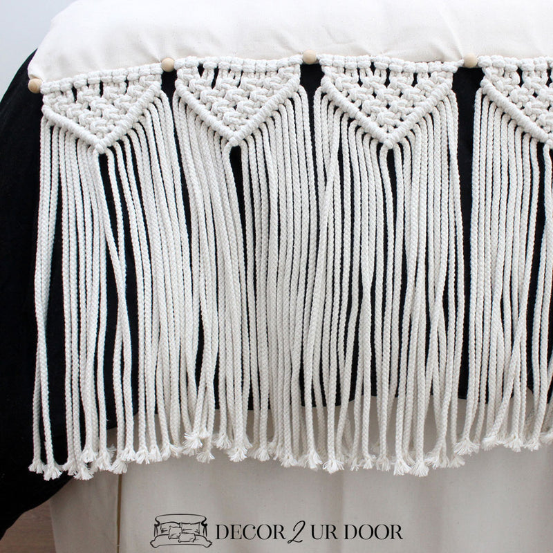 Natural Macrame Bed Scarf