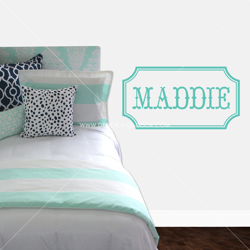 Maddie Name Personalized Vinyl Wall Decal