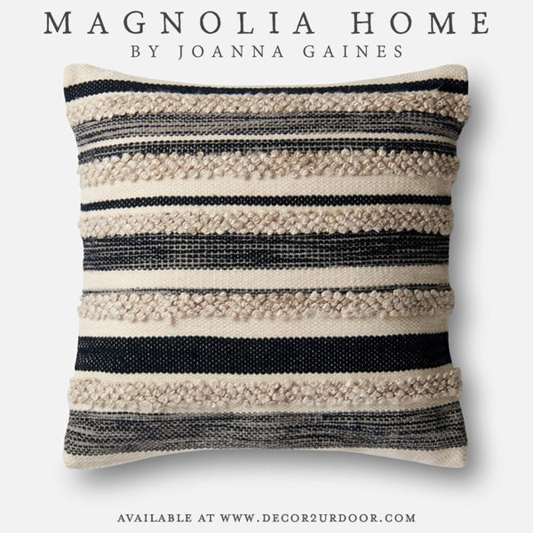 Magnolia Home Zander Pillow Cover in Charcoal