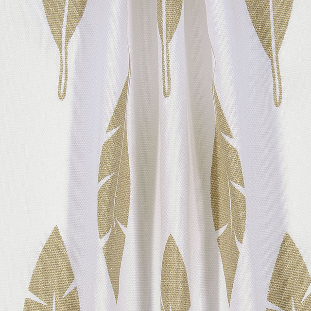 Metallic Gold Feathers Closet + Window Curtain