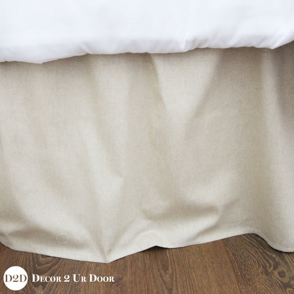 "Tan & Metallic Gold Specks 15"" Drop Bed Skirt"