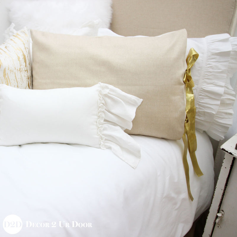 Metallic Gold Speck Designer Bedding Collection