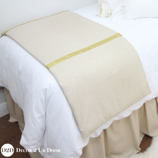 Metallic Gold Speck & Ribbon Bed Scarf