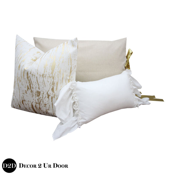 Metallic Gold Speck Pillow Pile