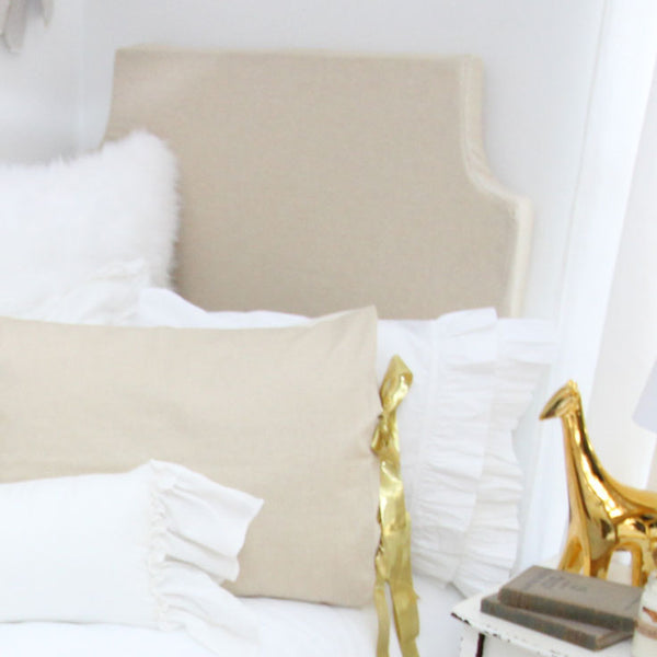 Gold Metallic Glitz Padded Fabric Headboard