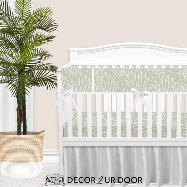 Modern Agave Gender Neutral Baby Crib Bedding Set