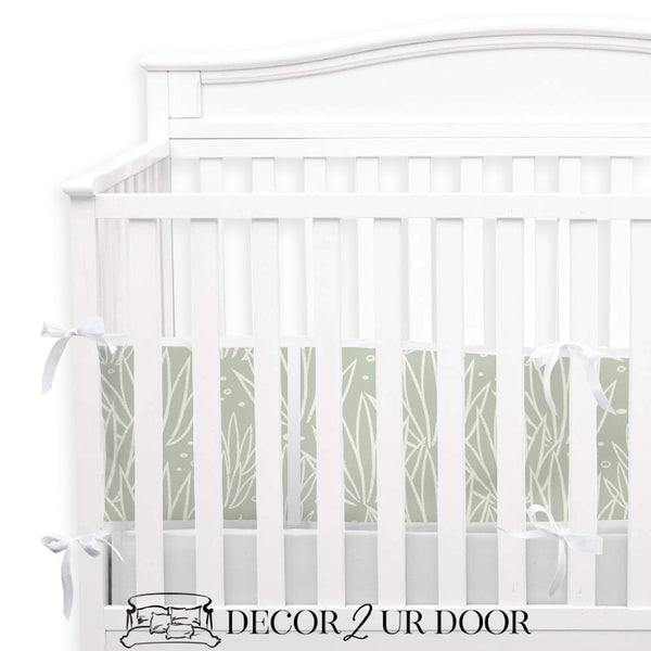 Modern Agave 2-in-1 Crib Bumper/Rail Cover