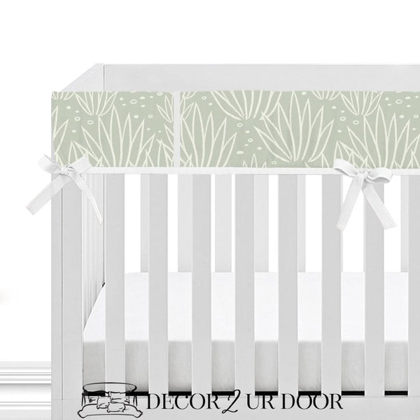 Modern Agave Bumperless Crib Bedding Set