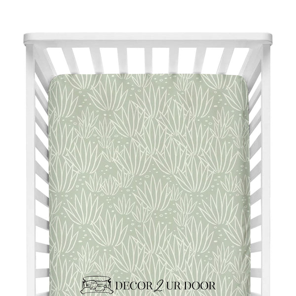 Modern Agave Fitted Crib Sheet