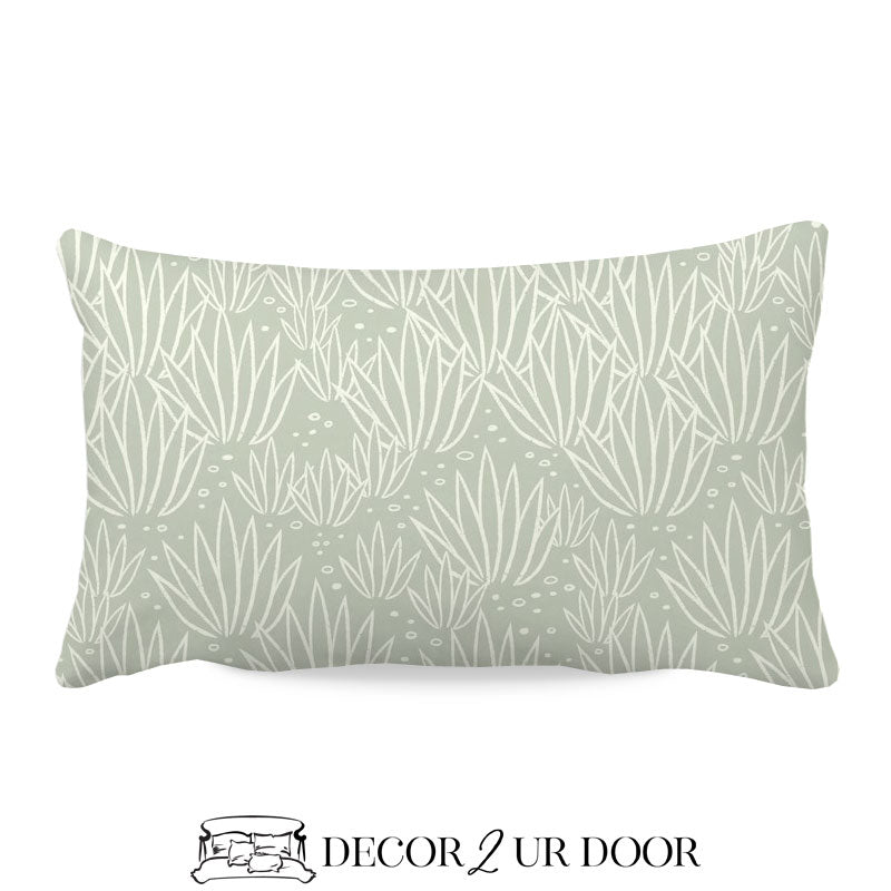 Modern Agave Lumbar Nursery Throw Pillow Cover