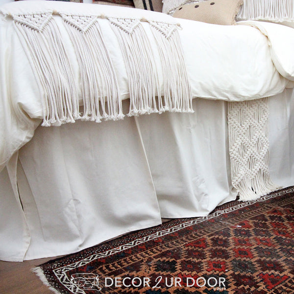 Natural Macrame Designer Bedding Collection