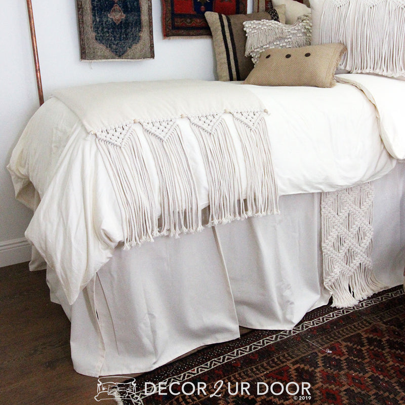 Natural Macrame Dorm Bedding Set