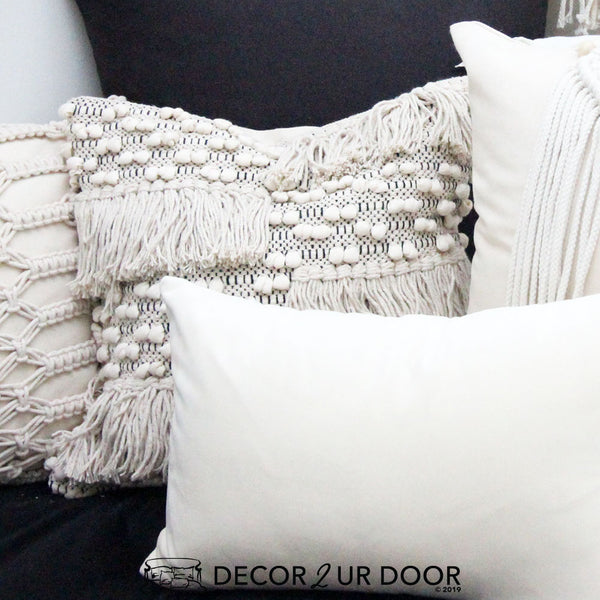 Natural Moroccan Square Pillow Cover
