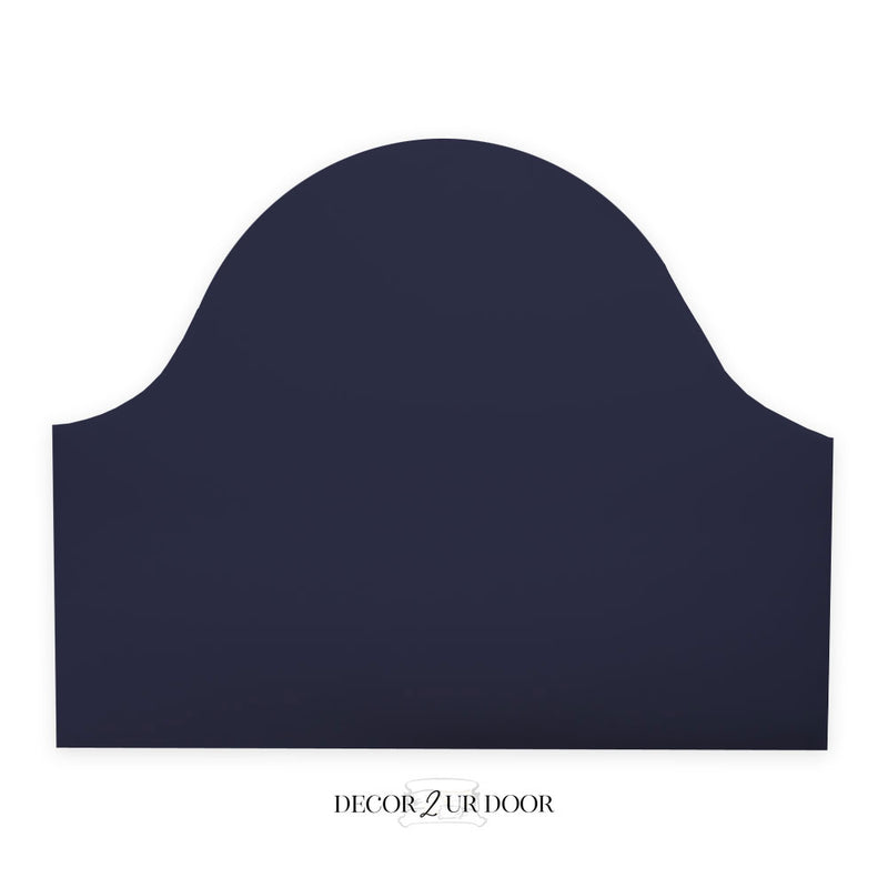 Solid Navy Padded Fabric Headboard