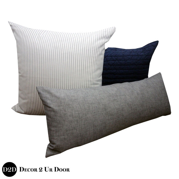 Navy & Grey Pillow Pile