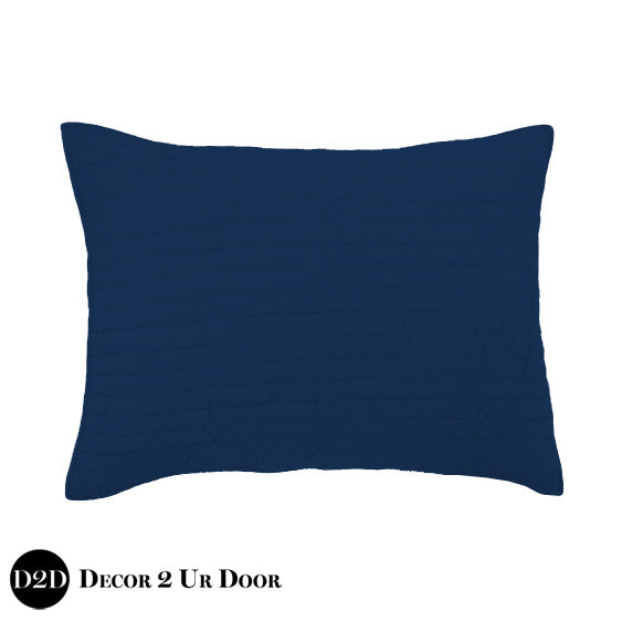 Solid Navy Quilted Sham