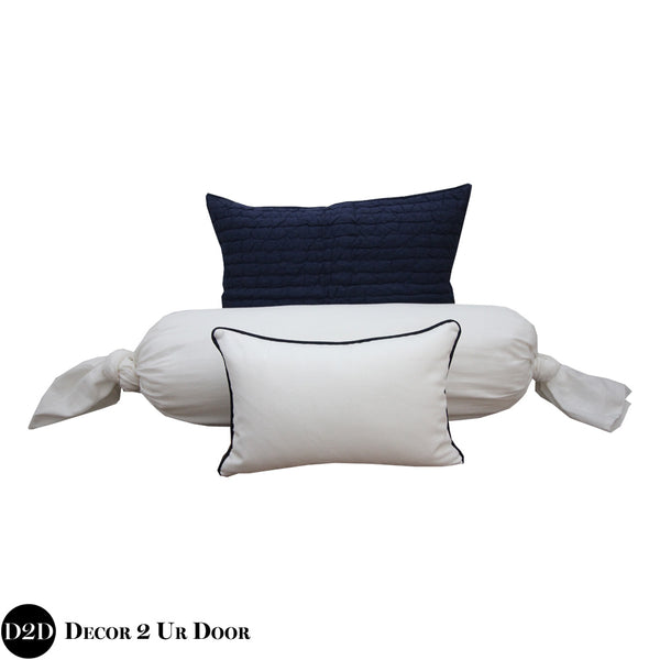 Navy & White Pillow Pile
