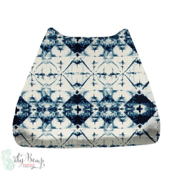 Navy & White Ombre Tribal Baby Changing Pad Cover