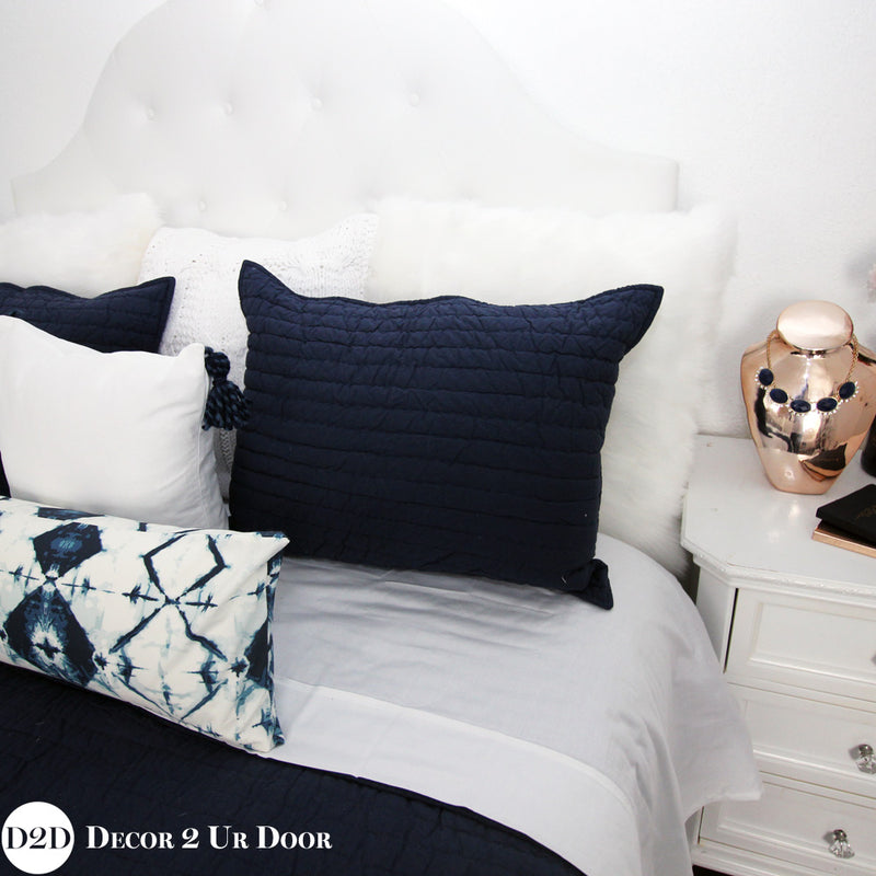 Navy & White Ombre Tribal Designer Bedding Collection